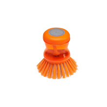House Kitchen Plastic Bowl Pan/Pot Dish Cleaning Brush With Cleaner